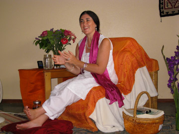 Mirabai Devi teaching in Santa Barbara, CA